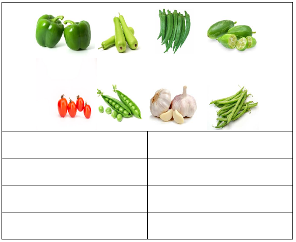 identify the vegetables